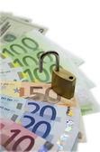 Money with locker — Stock Photo