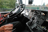 Truck driving — Stock Photo