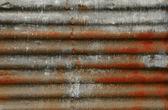 Rusty corrugated metal background — Stock Photo