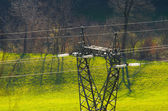 Power lines and electric pylon — Stock Photo