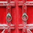 Stock Photo: Red Doors in Hue, Vietnam