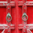 Red Doors in Hue, Vietnam — Stock Photo