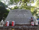 Robert johnson's grav, nära greenwood, mississippi — Stockfoto