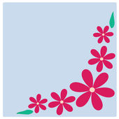 Illustration Pink flowers on background — Stock vektor