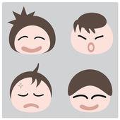 Faces — Stock Vector