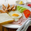 American breakfast  — Stock Photo