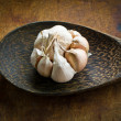 Garlic  on  ladle — Stock Photo