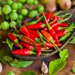 Many kind of vegetable and spice — Stock Photo