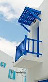 Blue balcony — Stock Photo