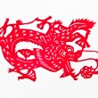 Chinese paper cut art dragon — Stock Photo #37887511