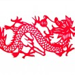 Chinese paper cut art dragon — Stock Photo #37887547