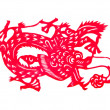 Chinese paper cut art dragon — Stock Photo #37887565