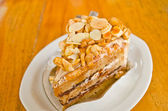Coffee cake with nut and almond — Foto Stock