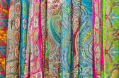 Colorful scarf in a row — Zdjęcie stockowe