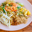 Pad Thai, stir-fried rice noodles — Stock Photo