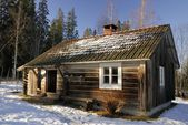 Traditional log cabin — Foto de Stock