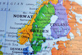 Map Of Sweden — Stock Photo