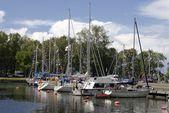 Boats at Harbor — Stock Photo