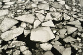 Rio congelado — Foto Stock