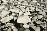 Río congelado — Foto de Stock