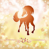 Yellow horse the symbol of new year — Stock Vector