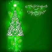 Fondo de navidad con el árbol de navidad — Vector de stock