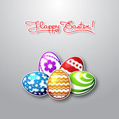 Easter egg on holiday colorful background — Stock Vector