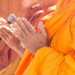 Pray,Put the palms of the hands together in salute , monks, thai — Stock Photo