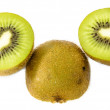 Juicy kiwi fruit isolated on white background — Stock Photo #35228893