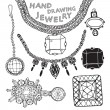 Jewelry collection — Vector de stock #35172243