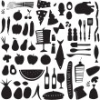 Vector food icons — Stock Vector