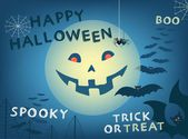 Happy Halloween card. Vector illustration. — Stockvektor