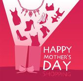 Valentines day, mother's day cards with ornaments, ribbon — 图库矢量图片
