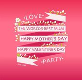 Happy valentines day, mother's day cards — 图库矢量图片