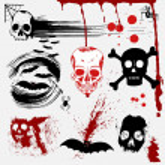 Halloween vector set: scary textures, skulls and blood — Stock Vector #38500705