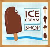 Vintage ICE CREAM poster design — Stock Vector