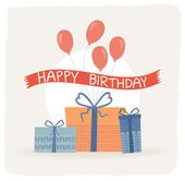 Birthday card, gift card — Stock Vector