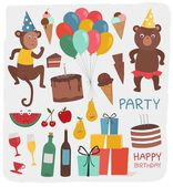 Set of party elements — Stock Vector