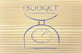 Find balance and measure your budget — Stock Photo