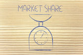 Find balance and measure your market share — Stock Photo