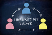 Team of co-workers, diversity at work — Stock Photo