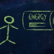 A person's energy, with energy progress bar loading — Stock Photo