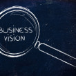 Stock Photo: Focusing on business vision and management, magnifying glass des