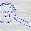 Stock Photo: Finding job, magnifying glass design