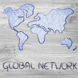 Global network, business in the modern connected world — Stock Photo #35272303