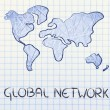 Global network, business in the modern connected world — Stock Photo #35274307
