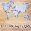 Global network, business in the modern connected world — Stock Photo #35277063