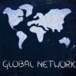Global network, business in the modern connected world — Stock Photo