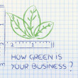 How green is your business? — Stock Photo