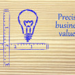 Keep your business values precise and clear — Stok fotoğraf